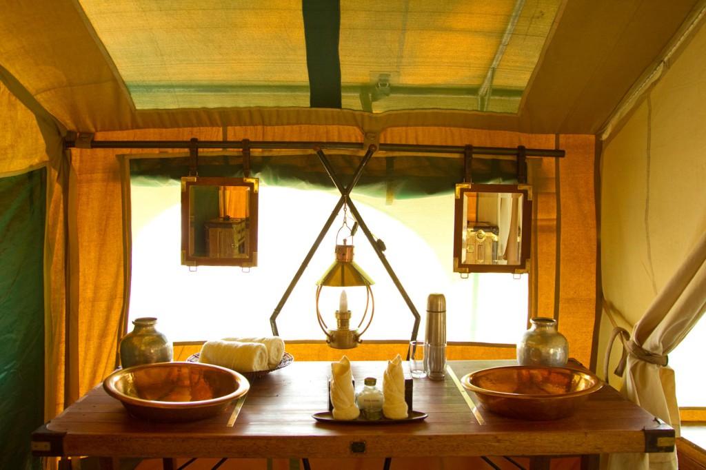 Waschraum im Selinda Camp
